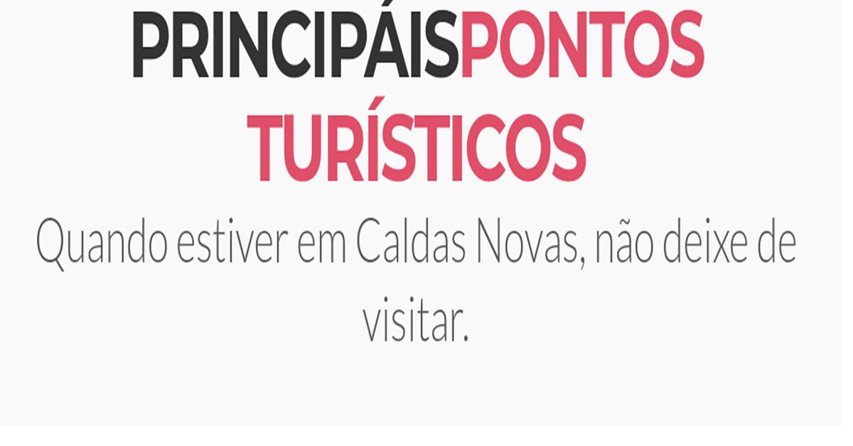 Imagem representativa: pontos turísticos em Caldas Novas